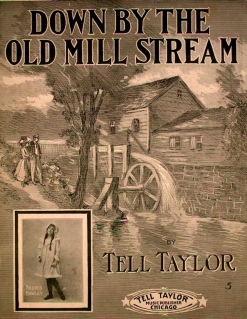 1910 Down By the Old Mill Stream (Tell Taylor) inset Mildred Hawley-1a-hx6