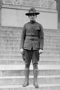 Irving Berlin Standing in a Military Uniform
