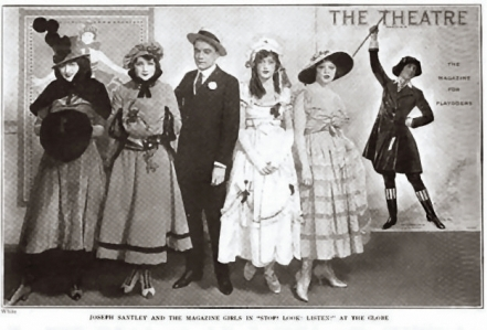 Joseph Santley with the Magazine Girls, Stop! Look! Listen!, 1916-2a-d10