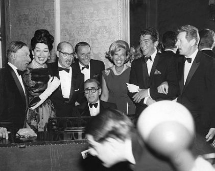 SPG Awards_1963_Beverly Hilton_Irving Berlin, George Jessel, Rosalind Russell, Groucho Marx, Frank Sinatra, Dinah Shore, Dean Martin, Danny Kaye_1