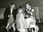 Sylvia Telles, Tom Jobim, and Marcos Valle at RCA Victor Studios, c.1964