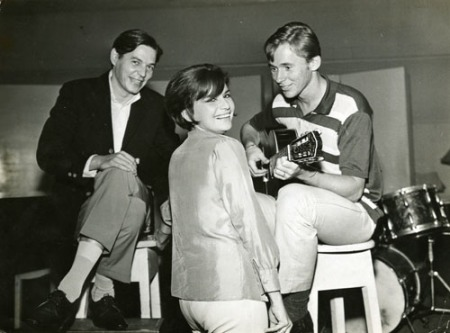 Sylvia Telles, Tom Jobim, and Marcos Valle at RCA Victor Studios, c.1964