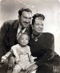 Hazel Scott_husband Adam Clayton Powell, Jr. and child_inscribed_1_sm_f50
