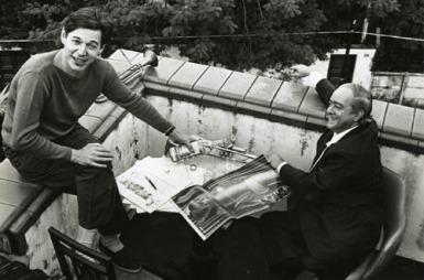 Tom Jobim e Vinicius de Moraes na rua Codajás - Leblon, by Paulo Scheuenstuhl (2)