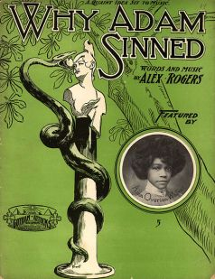 Why Adam Sinned, Aida Overton Walker inset, 1904 sheet music