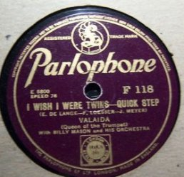 1935-I Wish I Were Twins-Valaida Snow-Parlophone F118