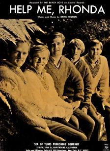 1965 Help Me, Rhonda-Beach Boys-sheet music