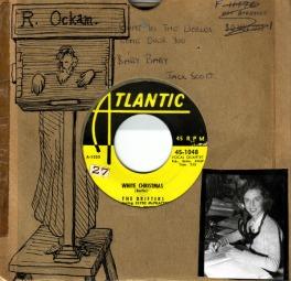 1954 White Christmas, Drifters, Atlantic 45-1048 (2)