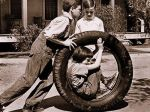 Mockingbird_Jem, Dill, and Scout (in tire)_1