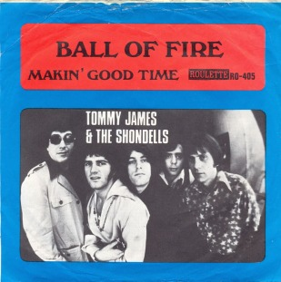 1969-Tommy James and the Shondells-Ball-of-Fire-Roulette-(Sweden)- RO 405-sleeve-1
