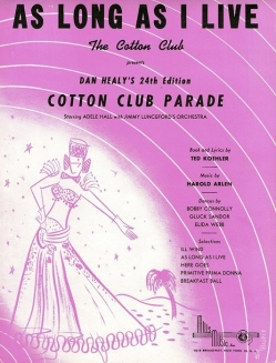 1934-As Long as I Live-Cotton Club Parade (24th Ed.)-1