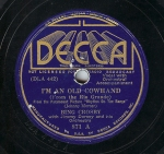 1936 I'm an Old Cowhand--Bing Crosby with Jimmy Dorsey and orch., Decca 871
