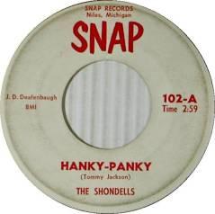 1964-Shondells-Hanky-Panky-(Snap-102)-1
