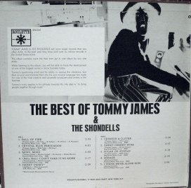 The Best of Tommy James and the Shondells, 1969, gatefold, left