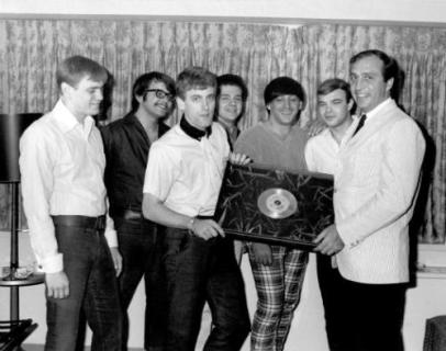TJ & Shondells-first gold record (Hanky Panky) with Morris Levy