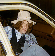 Tommy James arrives for a radio interview wearing the same hat that he wears in the cover photos of the 1969 album The Best of Tommy James the Shondells