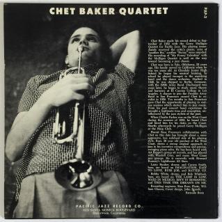 1953 Chet Baker Quartet (10 inch LP)-Pacific Jazz PJLP-3, back-t60-d15