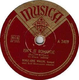 1955-Isn't-It-Romantic-Bengt-Arne-Wallin-Musica label-(Sweden)-A-3409