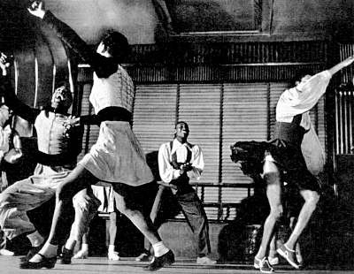 Frankie Manning (center) Big Apple Lindy hop routine, Life Magazine (1aa)