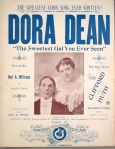 1896 Dora Dean, w.m. by Bert Williams, Williams & Walker intro to NYstage