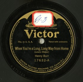 1914 When You're a Long, Long Way from Home-Henry Burr-Victor 17632-A