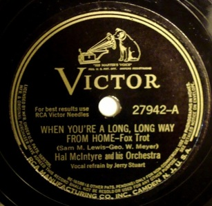 1942 When You're a Long, Long Way From Home-Hal McIntyre-Victor 27492 (50p)-d15