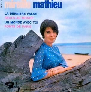 1967 La derniere valse-Mireille Mathieu-EP Barclay 71.210 M (d33-g10)