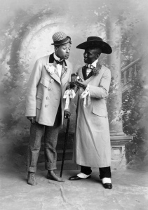 "Bert Williams and George Walker, 1896 ""Old Virginia Cheroots"" costumes (1)"