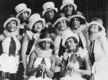 Chocolate Kiddies chorus girls, 1925-1