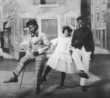 George Walker, Aida Overton Walker, and Bert Williams, In Dahomey, 1903-1a