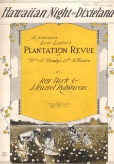 1922 Hawaiian Night in Dixieland (Roy Turk and J. Russel Robinson)-1a