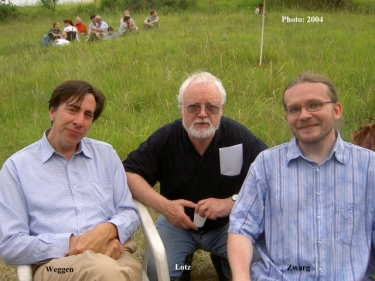 Dr. Rainer Lotz (center) with associates Weggen and Zwarg-2004