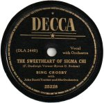 1941- Sweetheart of Sigma Chi, Dream Girl of P.I.K.A -- Bing Crosby, Decca 25228
