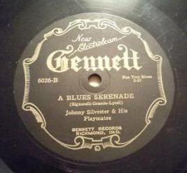 1927 A Blues Serenade-Gennett 6026-B-c2