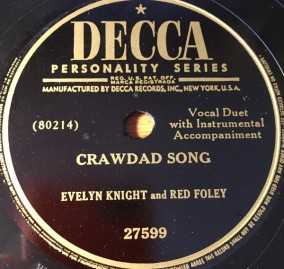 1951-crawdad-song-evelyn-knight-and-red-foley-decca-27588