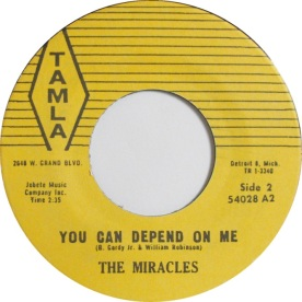 1959 You Can Depend On Me, B-side of Tamla 54028, The Feelilng is So Fine