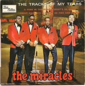 1965 Tracks of My Tears (EP), Miracles, Tamla Motown (France) TMEF 513