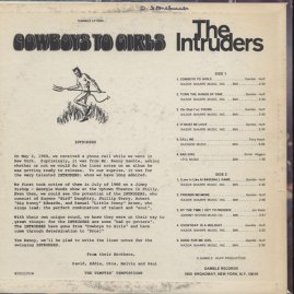 1968 Intruders, Cowboys to Girls LP (back)