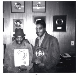 Leon Huff and Kenny Gamble with gold record for Expressway To Your Heart
