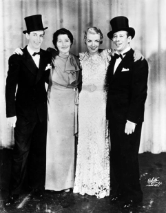 Ray Bolger, Luella Gear, Frances Williams, and Bert Lahr-- Life Begins At 8.40, 1934