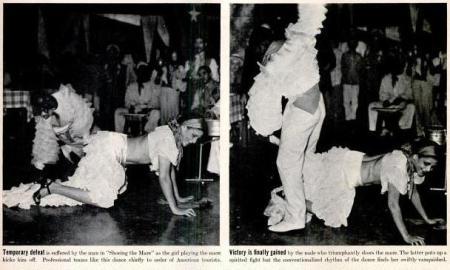 Rumba dancers perform Shoeing the Mare, LIFE Magazine, 4 April 1938, p.67 (1,2)-c1