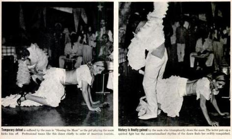 Rumba dancers perform Shoeing the Mare, LIFE Magazine, 4 April 1938, p.67 (1,2)-c1
