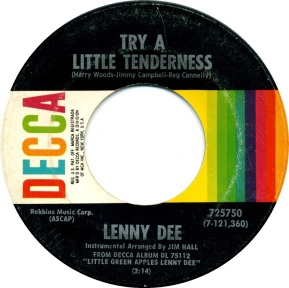 1969 Try a Little Tenderness-Lenny Dee, Decca 725750 (2)