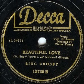 Beautiful Love, Bing Crosby, Decca 18735B, 1944 (1)