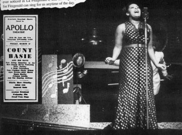 Billie Holiday, April 1937, Apollo with Count Basie