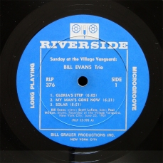 Sunday at the Village Vanguard, Bill Evans Trio, Riverside RLP 376 (side 1)