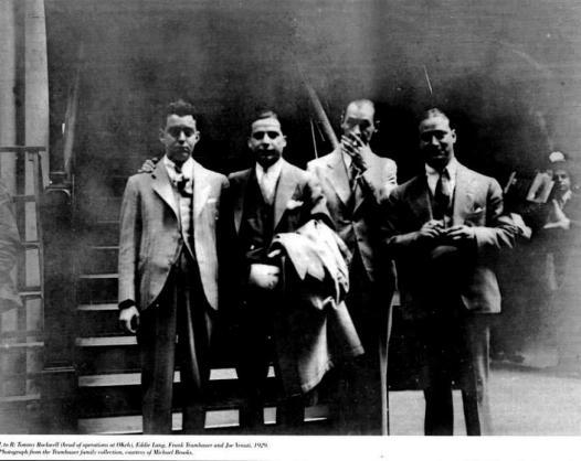Tommy Rockwell (OKeh head of ops.), Eddie Lang, Frank Trumbauer, Joe Venuti, 1929