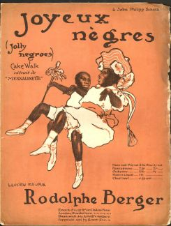 1903 Joyeux Nègres-Rodolphe Berger-illustration of dancers Rudy and Fredy Walker--sheet