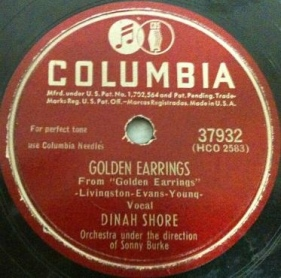 1947 Golden Earrings-Dinah Shore-Columbia 37932