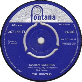 1961 Golden Earrings-The Hunters-(s) Fontana H.303-1-75p